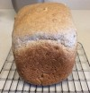 ホームベーカリーで全粒粉100%食パン